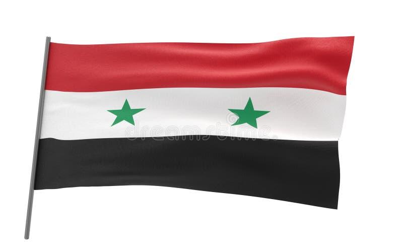 flagga syria arkivfoton