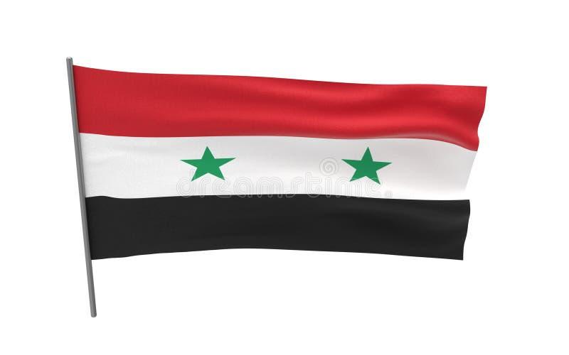 flagga syria arkivbild
