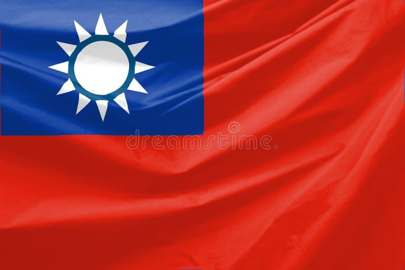 flagga taiwan royaltyfri illustrationer