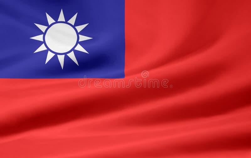 flagga taiwan stock illustrationer