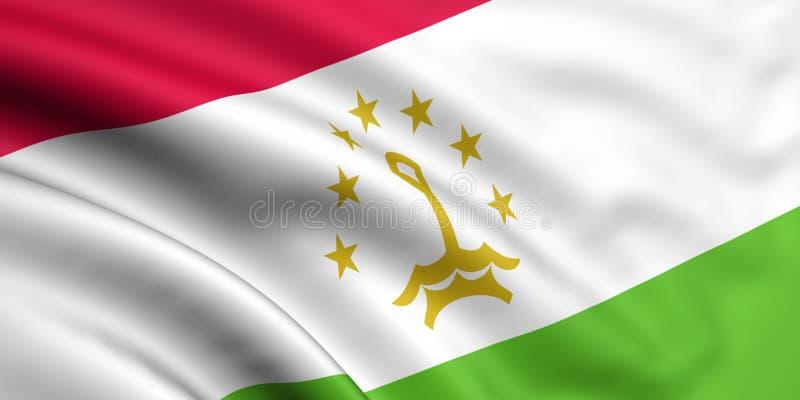 flagga tajikistan royaltyfri illustrationer