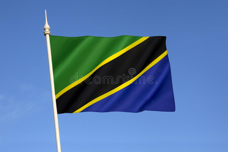 flagga tanzania arkivfoto