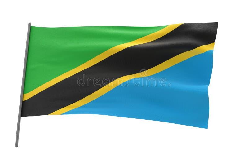 flagga tanzania royaltyfri bild