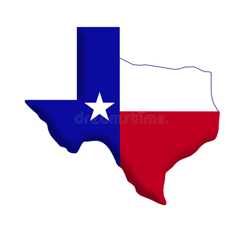 flagga texas vektor illustrationer