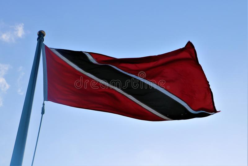 flagga tobago trinidad arkivfoton