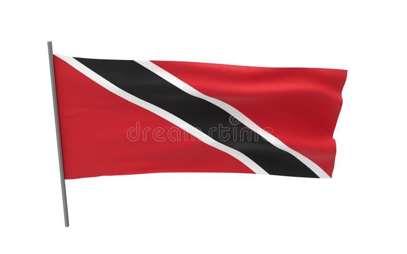 flagga tobago trinidad arkivbild