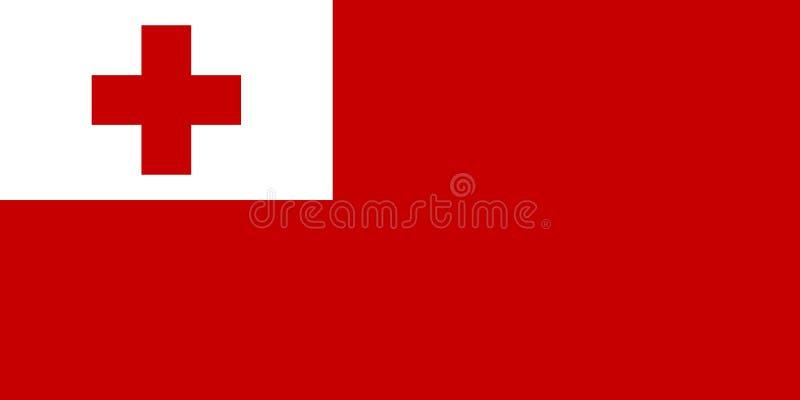 flagga tonga royaltyfri illustrationer
