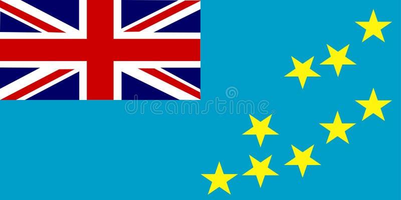 flagga tuvalu stock illustrationer