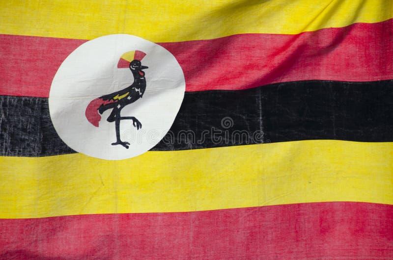 flagga uganda royaltyfri foto