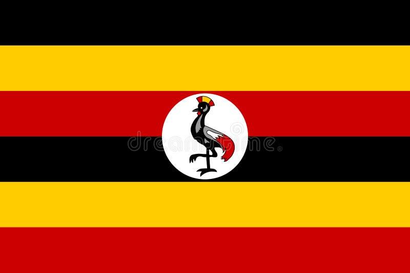flagga uganda royaltyfri illustrationer
