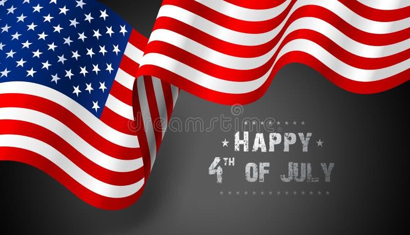 Flagga United States Of America vektor royaltyfri illustrationer