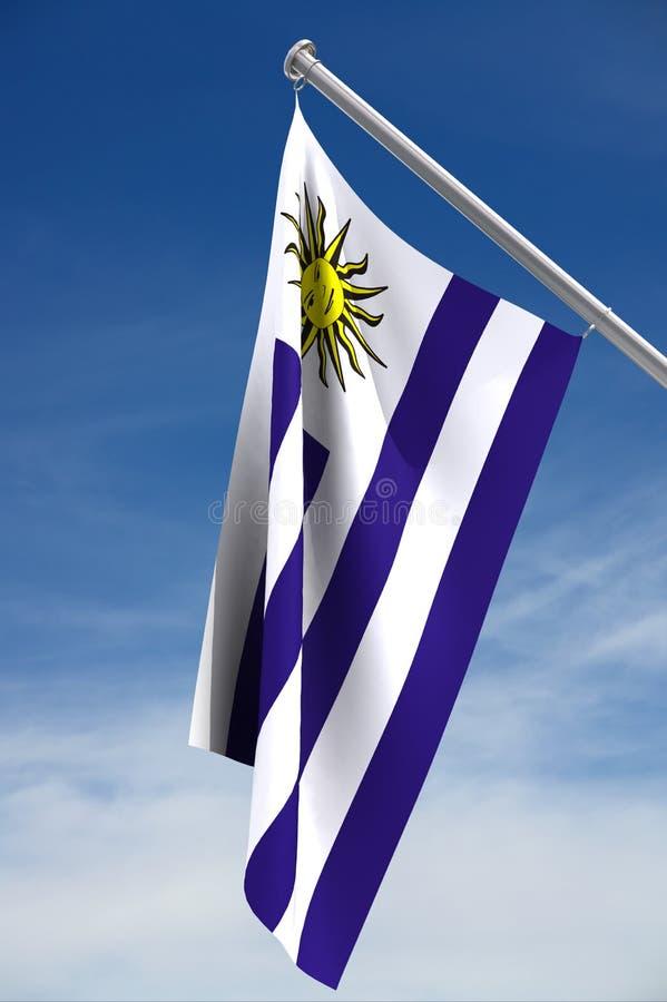 flagga uruguay arkivfoto