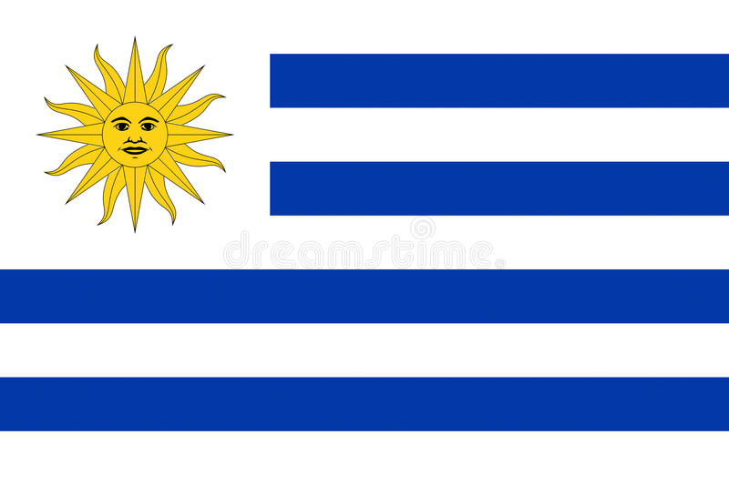 flagga uruguay royaltyfri illustrationer