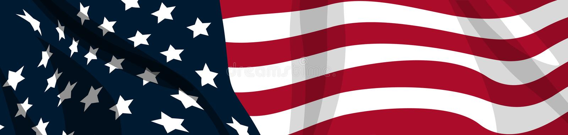 flagga USA royaltyfri illustrationer
