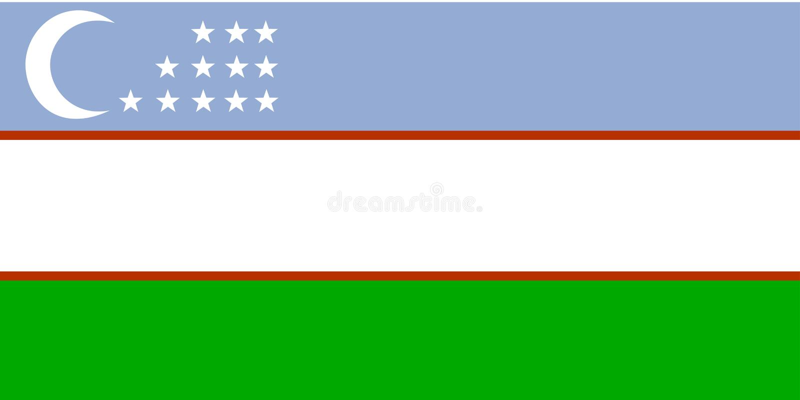 flagga uzbekistan stock illustrationer
