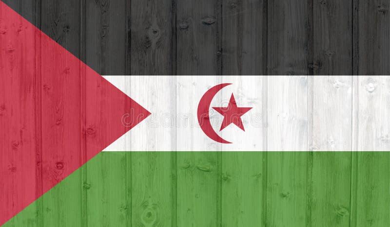 flagga v?stra sahara stock illustrationer