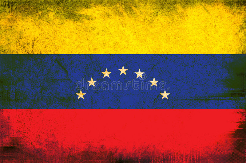 flagga venezuela stock illustrationer