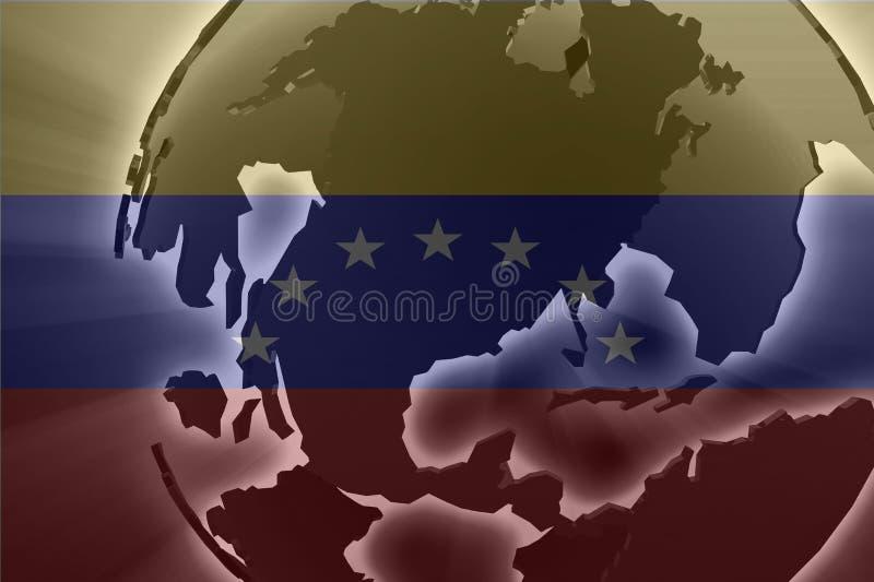 flagga venezuela vektor illustrationer