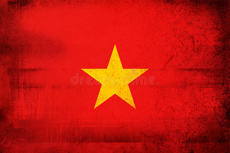flagga vietnam vektor illustrationer