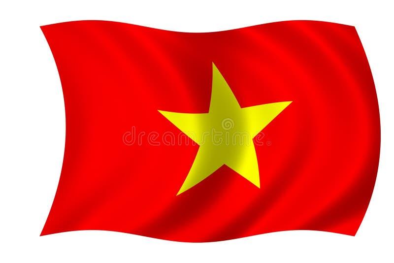 flagga vietnam stock illustrationer