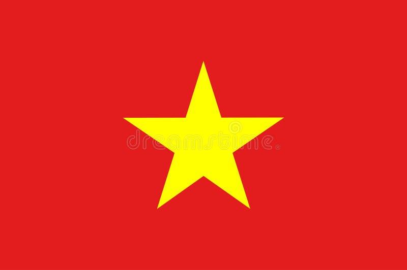 flagga vietnam original- och enkel Vietnam flagga isolerad vektor i officiella färger och proportion stock illustrationer