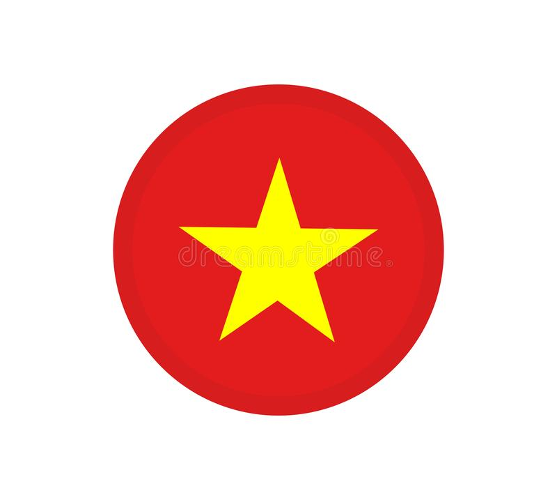 flagga vietnam original- och enkel Vietnam flagga isolerad vektor i officiella färger och proportion royaltyfri illustrationer