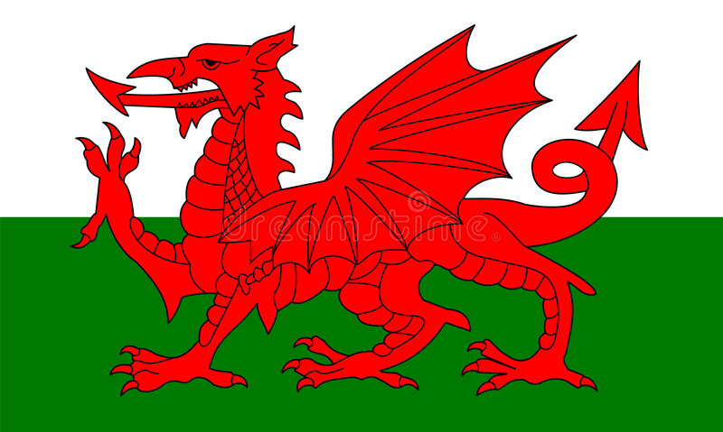 flagga wales stock illustrationer