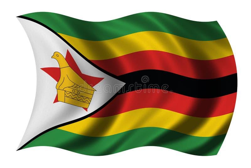 flagga zimbabwe stock illustrationer
