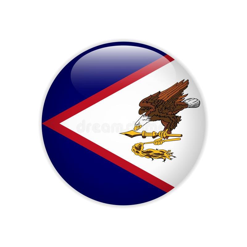 FlaggaAmerican Samoa knapp vektor illustrationer