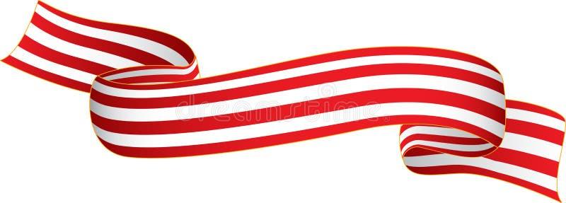 Flaggaband royaltyfri illustrationer