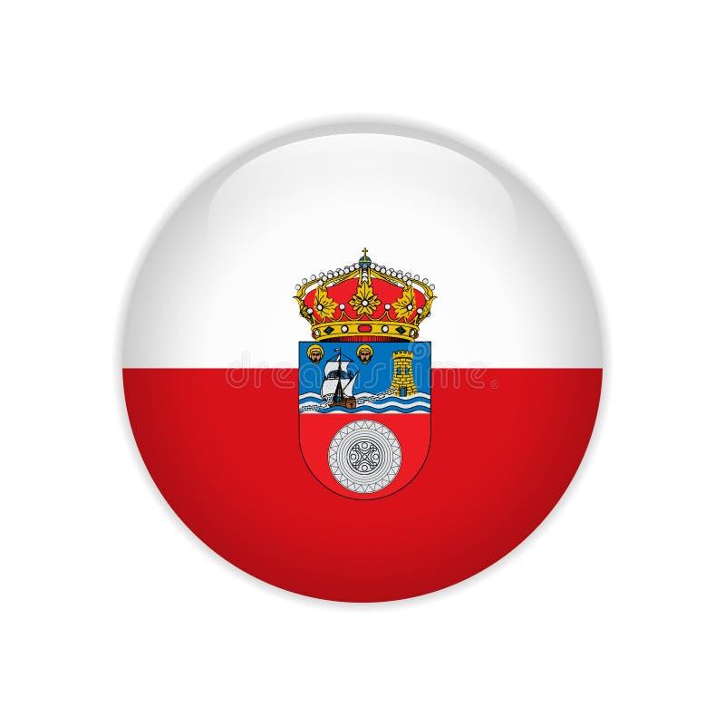 FlaggaCantabria knapp royaltyfri illustrationer