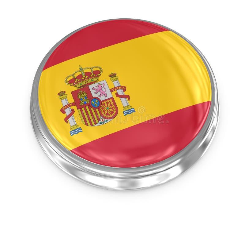 Flaggaemblem - Spanien vektor illustrationer