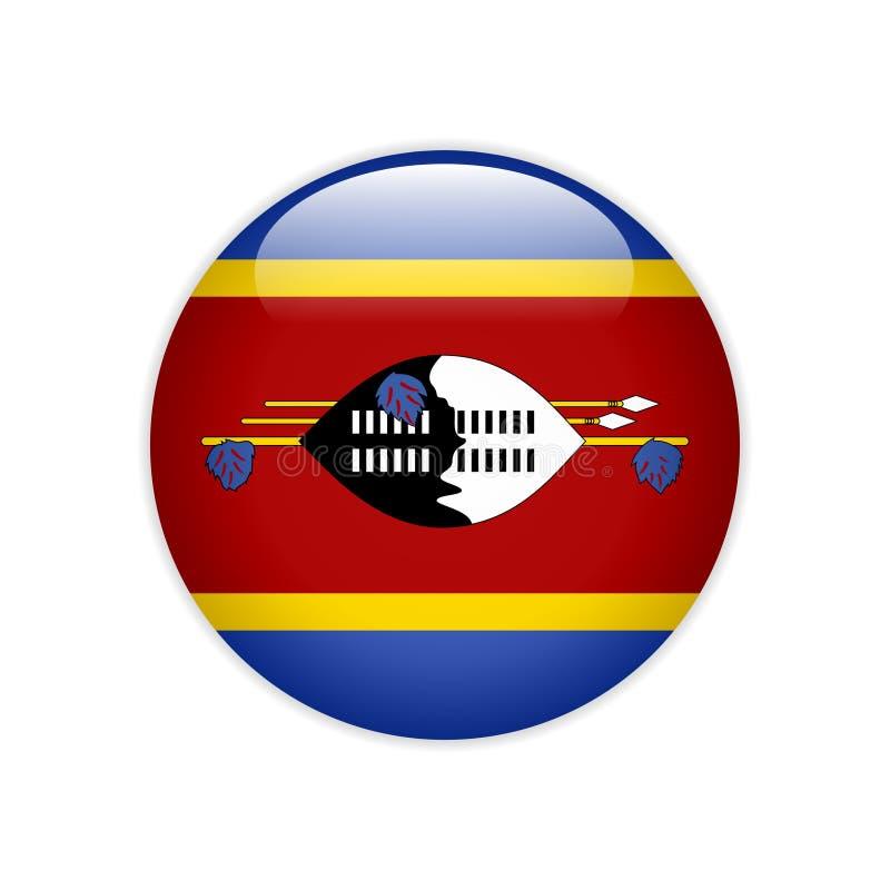 FlaggaEswatini knapp stock illustrationer