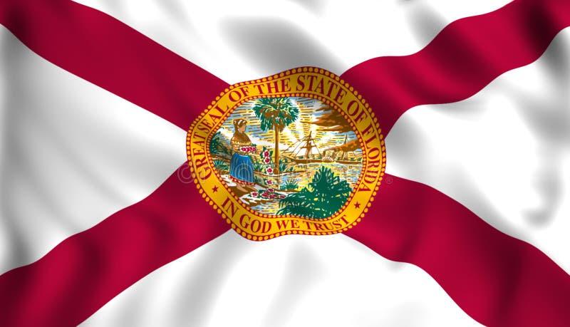 Flaggaflorida USA statligt symbol stock illustrationer