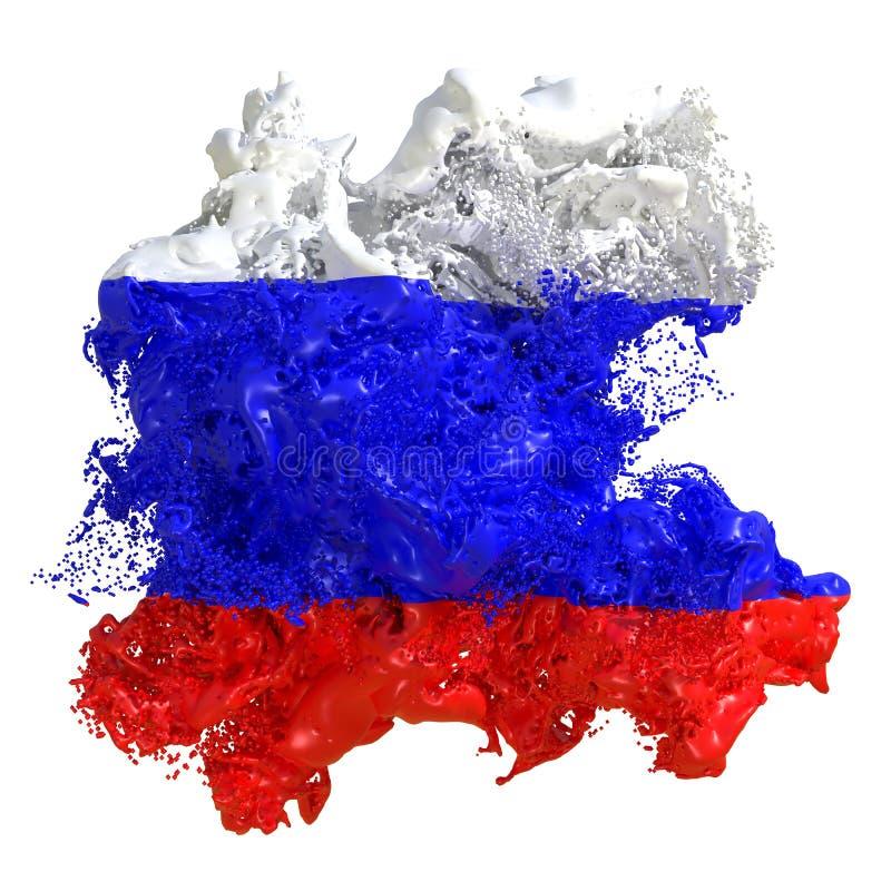 Flaggaflytande för rysk federation vektor illustrationer