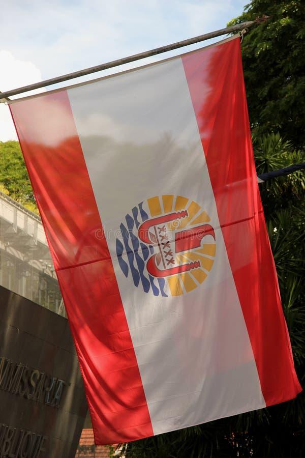 flaggafransman polynesia fotografering för bildbyråer