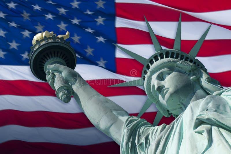flaggafrihet royaltyfria bilder