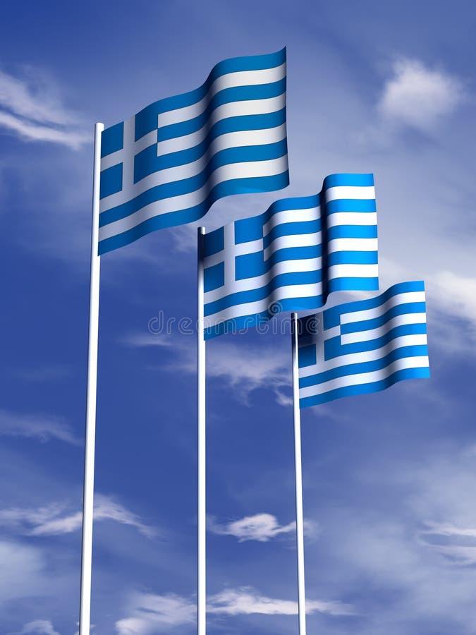 flaggagrek royaltyfria bilder