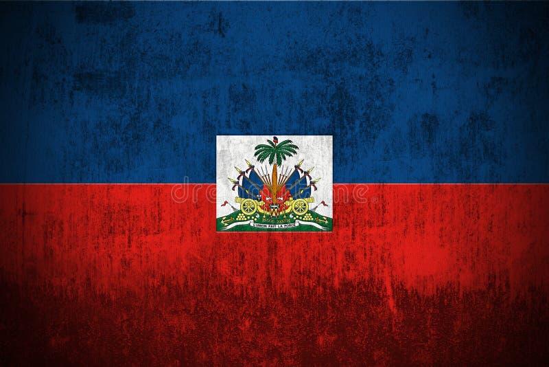 flaggagrunge haiti stock illustrationer