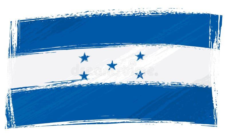 flaggagrunge honduras stock illustrationer