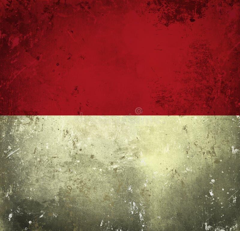 flaggagrunge indonesia royaltyfri illustrationer