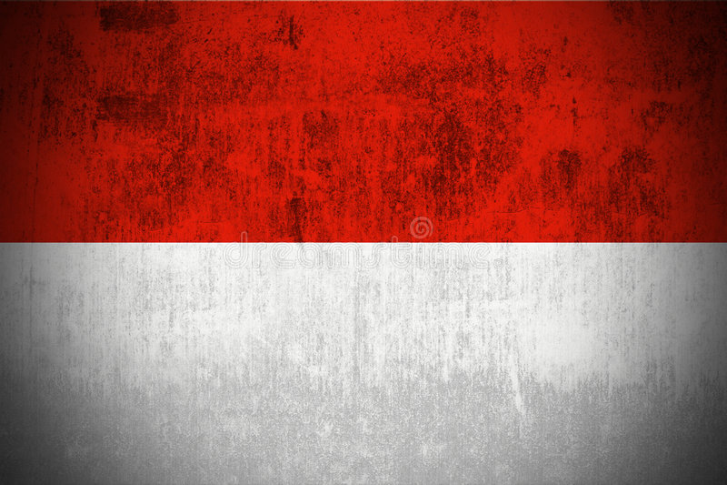 flaggagrunge indonesia vektor illustrationer