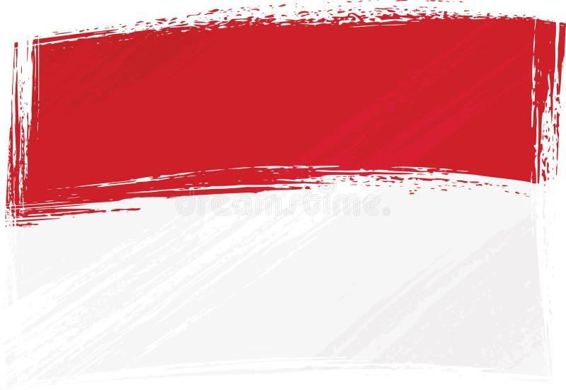 flaggagrunge indonesia monaco royaltyfri illustrationer
