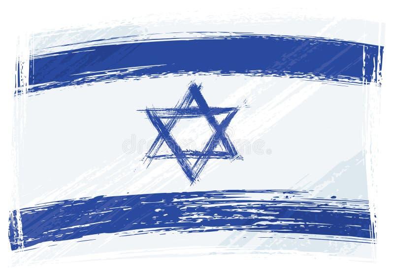 flaggagrunge israel royaltyfri illustrationer