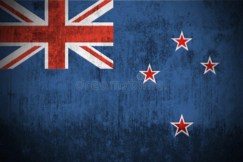 flaggagrunge New Zealand vektor illustrationer