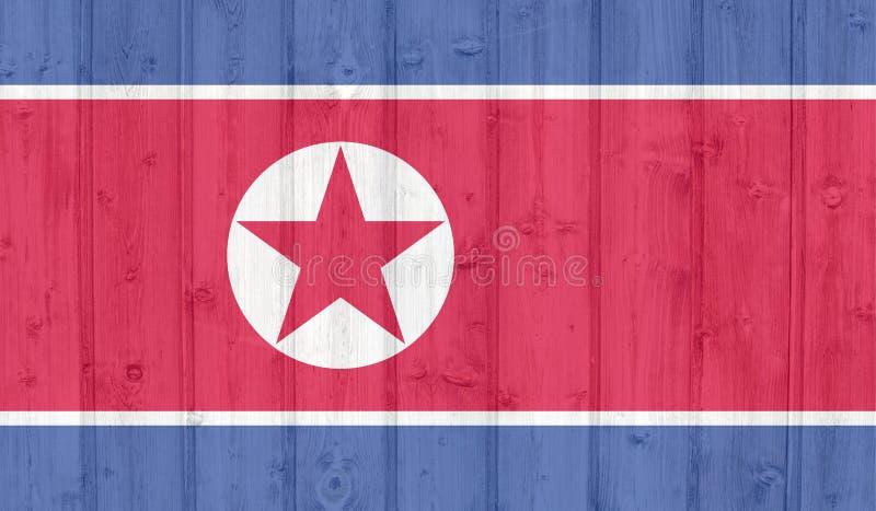 flaggagrunge norr korea stock illustrationer