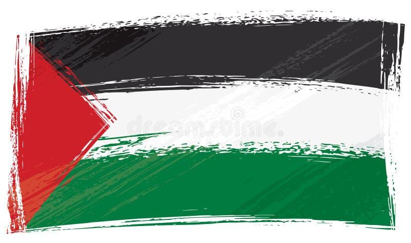 flaggagrunge palestine vektor illustrationer