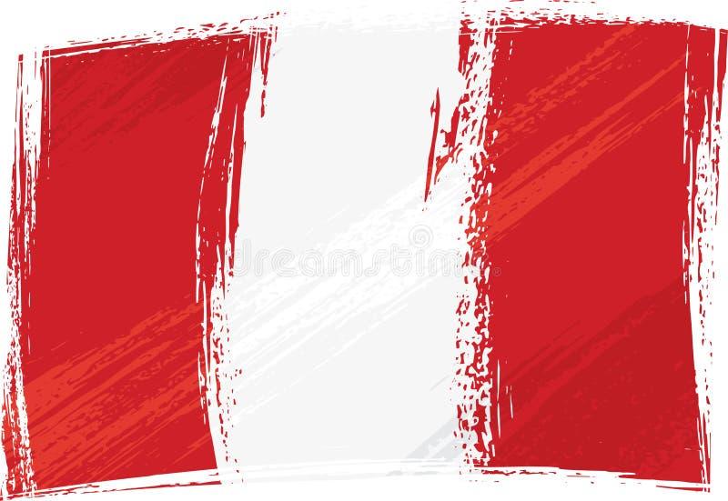 flaggagrunge peru stock illustrationer