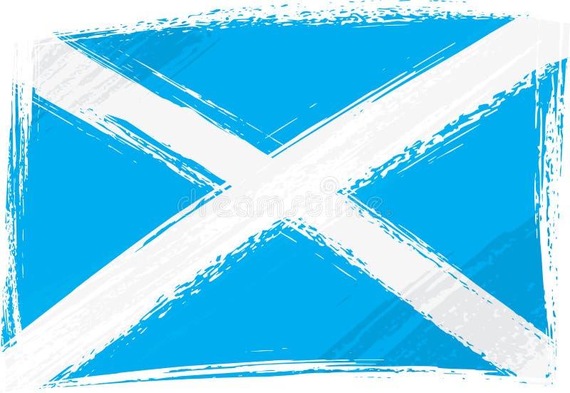 flaggagrunge scotland stock illustrationer