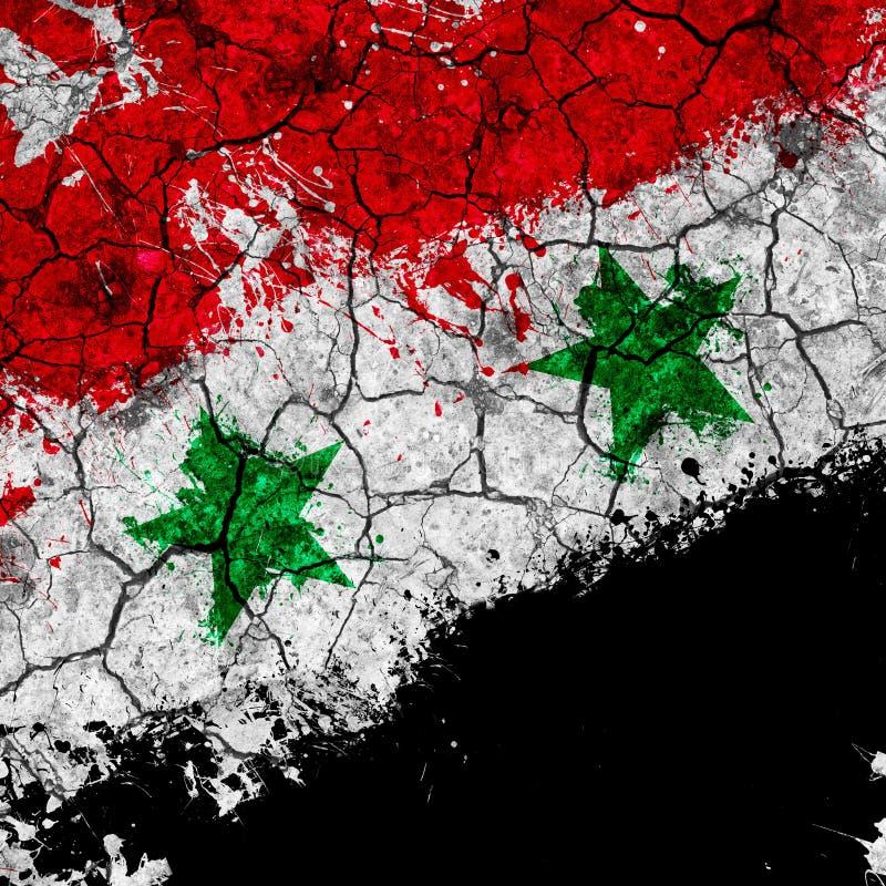flaggagrunge syria arkivfoton